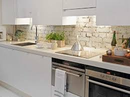 painted white brick kitchen backsplash brick kitchen backsplash