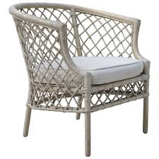 Modern Garden Chairs Hollywood Regency Cane Wicker Bamboo Club Chair Hollywood