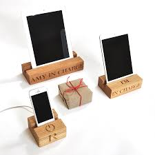 wooden stand for iphone by the oak u0026 company