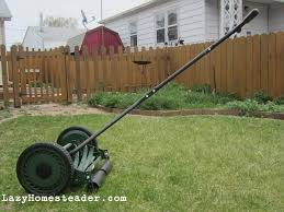 pros and cons of a push reel mower the lazy homesteader