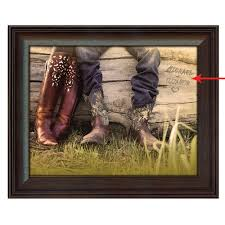 cowboy home decor personalized boot love framed canvas small