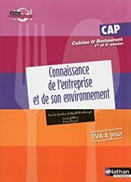 livre de cuisine cap amazon fr sciences appliquées cap cuisine et restaurant