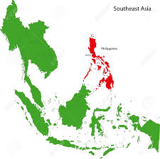 Philippines On World Map by Location Of Philippines On Southeast Asia Royalty Free Cliparts