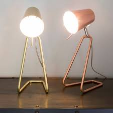 Brass Table Lamps Z Table Lamp In Brass Or Copper By I Love Retro