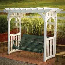 arbor with a porch swing great idea for my back yard turning