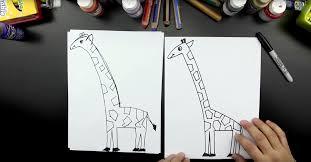 how to draw a giraffe art for kids hub