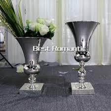 bulk silver vases centerpiece stands wholesale wedding centerpiece iron flower