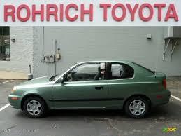 hyundai accent green 2003 quartz green metallic hyundai accent coupe 52688318