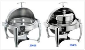 china hydraulic round roll top chafing dish set with 6l food pan