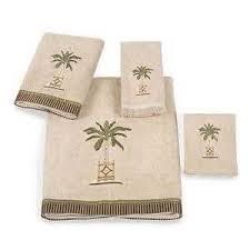 amazoncom palm tree tropical bath set bathroom accessories decor