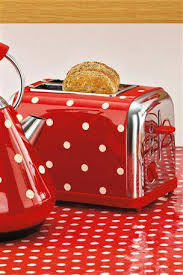 Toaster And Kettle Set Red Polka Dots Polka Dots Galore Pinterest Toasters Kettle And
