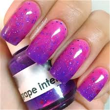 grape intentionscolor changing thermal nail polish