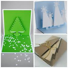 roundup 9 folded paper christmas tree christmas card tutorials