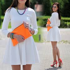 white dress and neons by renata m http lookbook nu look