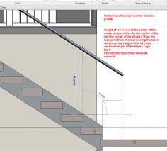 Interior Handrail Height Handrail Transition Double Bind Autodesk Community