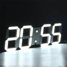 cool wall clock mirror wall clock with temperature display and led light