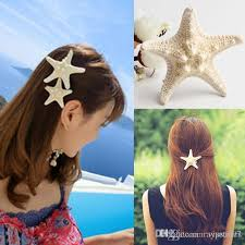 starfish hair clip 2017 fashion diy starfish hair clip barrettes hair