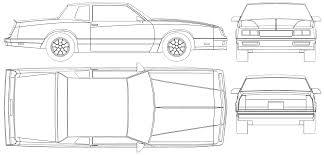 lamborghini aventador drawing outline 1986 chevrolet monte carlo ss coupe blueprints free outlines