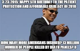 Obamacare Meme - happy birthday obamacare imgflip