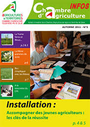 chambre d agriculture 03 accompagner de jeunes agriculteurs les clés de la réussite revue