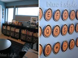 Land Of Nod Bookshelf Organizing With Style Diy Numbered Storage Bins Blue I Style