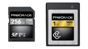 photo cards prograde digital demonstrates cfexpress 1 0 cards and more