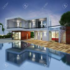 project of a luxury villa in 3d stock photo picture and royalty