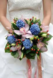blue wedding bouquets heavenly blue bridal bouquet ideas pictures