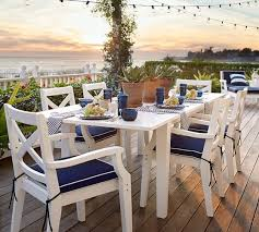 Sunbrella Cushions For Outdoor Furniture Sunbrella Piped Outdoor Dining Chair Cushion Solid Pottery Barn
