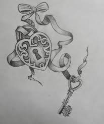 heart key lock tattoo design in 2017 real photo pictures images