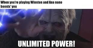 Unlimited Power Meme - feeling powerful overmeme overwatch memes facebook