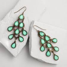 earrings world light turquoise chandelier earrings world market