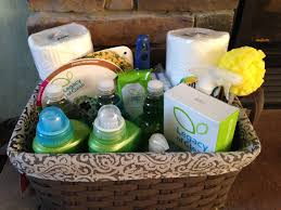 Inexpensive Housewarming Gifts by Housewarming Gift Basket All Green Cleaning Products Available