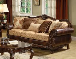 Leather And Fabric Armchair Wood Leather And Fabric Sofas Centerfieldbar Com