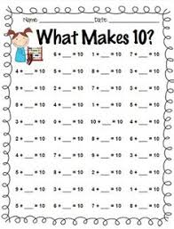 number bonds worksheets great for teachers using singapore math
