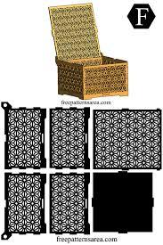 wooden laser cut box design with geometric flower ornament box