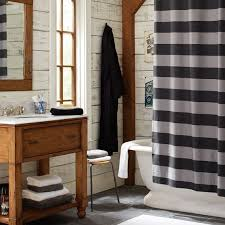 Rugby Stripe Curtains Rugby Stripe Shower Curtain Pbteen
