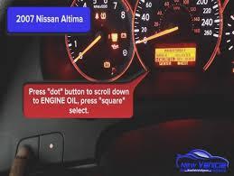 check engine soon light 2007 nissan altima oil light reset service light reset youtube