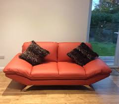 Red Leather 2 Seater Sofa Client Feedback