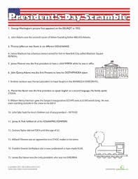 play the presidents day super scramble worksheet education com