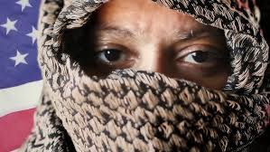 arab wrap middle eastern woman closeup wearing traditional shemagh arab