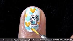owl city nails www youtube com meliney nail art gallery step by