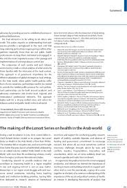 The Blind Boy Poem Summary The Making Of The Lancet Series On Health In The Arab World The