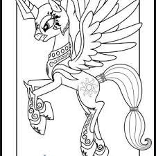 des sports coloriage my little pony princesse luna coloriage à