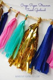 streamers paper how to make tassel garlands the easy way using crepe paper