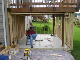 panofish building a shed under a deck