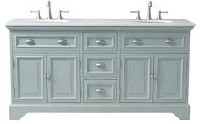 Cottage Style Bathroom Vanities by Sadie Double Vanity Antique Blue Shabby Chic Style Bathroom