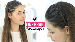 hair braiding styles step by step line braid hairstyle tutorial step by step youtube