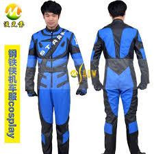 Tony Stark Halloween Costume Superhero Iron Man Cosplay Costume Tony Stark Iron Man Racing Suit