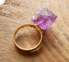 rings with crystal images Amethyst rock on ring crystal jewelry earrings necklaces jpg